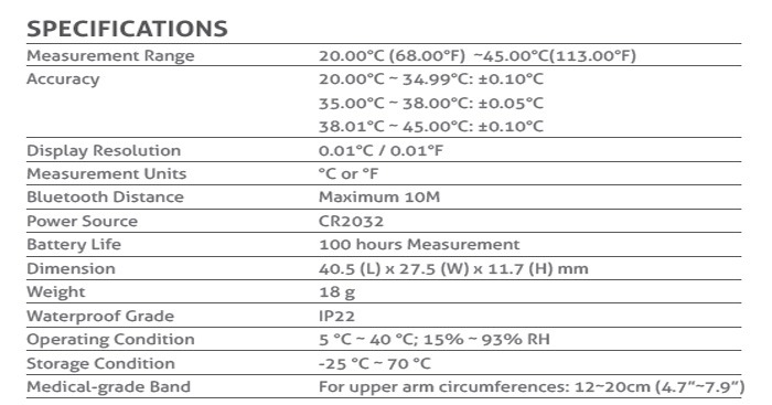 SIFHEALTH-5.7-3Bluetooth Thermometer