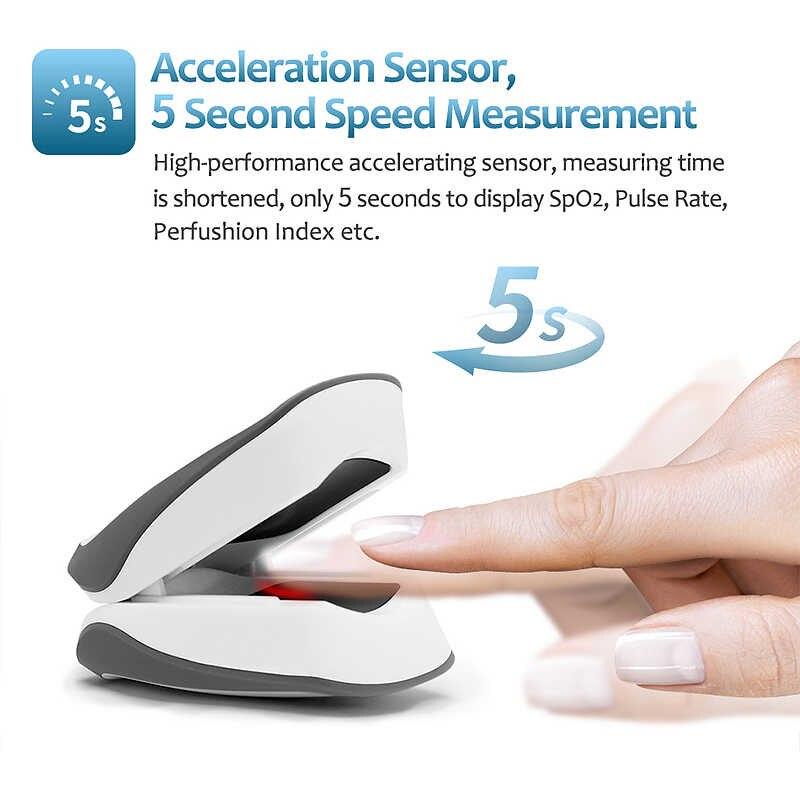 Acceleration senson -pulsed fingertip oximeter