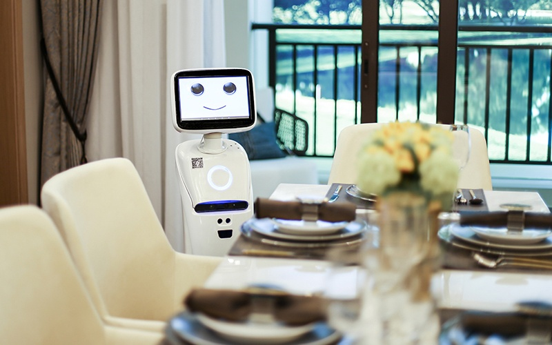 Intelligent telepresence Healthcare Robot - SIFROBOT-1.1 With 1000 m² Navigation Area Telepresence Robot