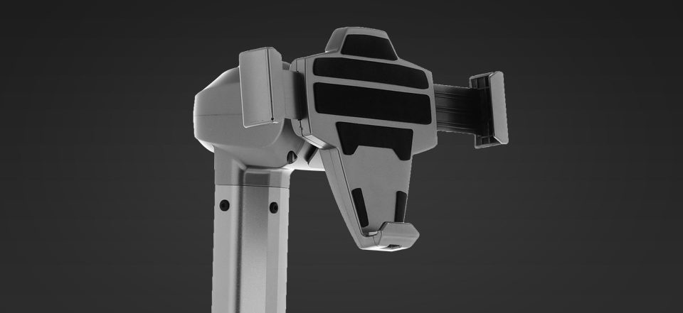 """Telepresence Robot SIFROBOT-4.0 with a Stretchable Fixture Supports 8 and 10"""" Tablet with stretchable fixture"""