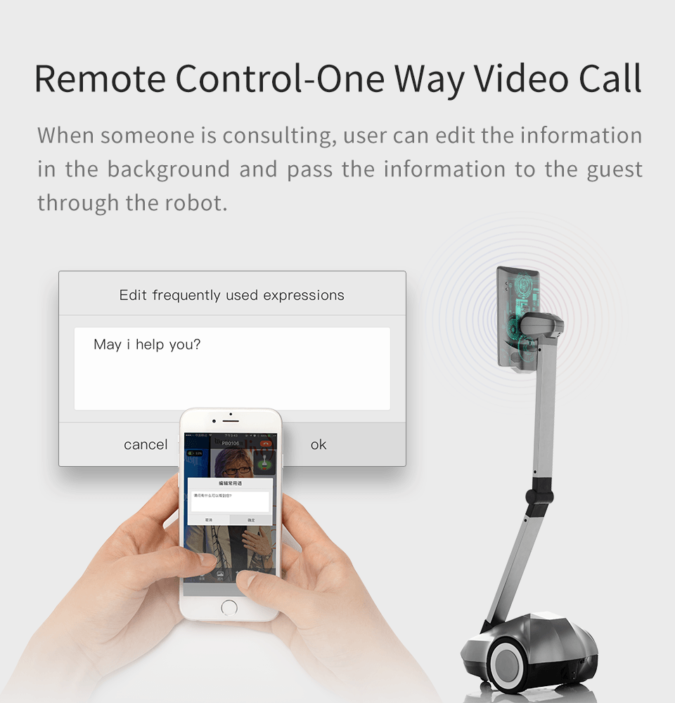 Remote Control Telepresence Robot SIFROBOT-4.1 With Face And Speech Recognition  Video call