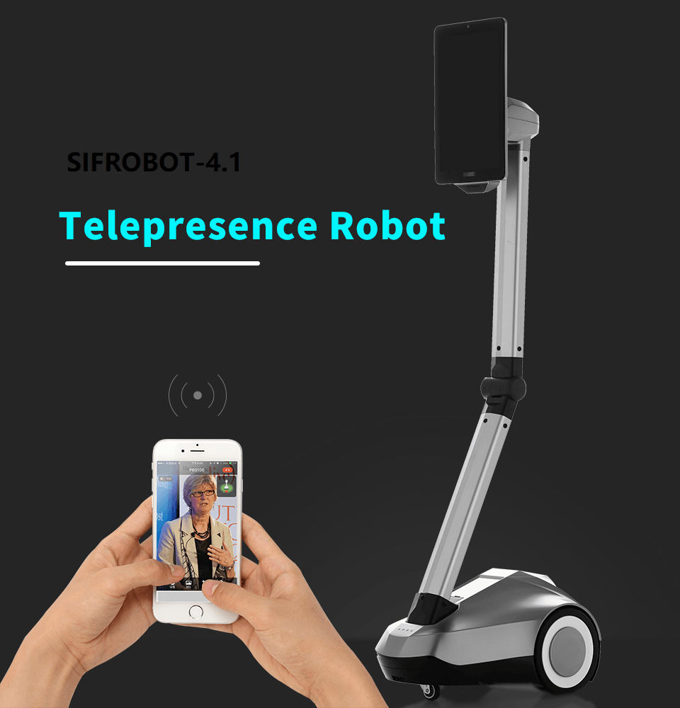 Remote Control Telepresence Robot SIFROBOT-4.1 With Face And Speech Recognition  Telepresence