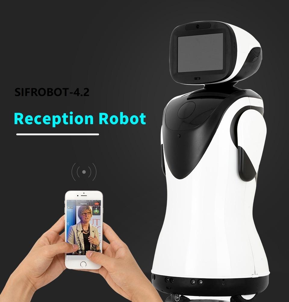 Professional Telepresence Robot Humanoid Design SIFROBOT-4.2 Receptionist