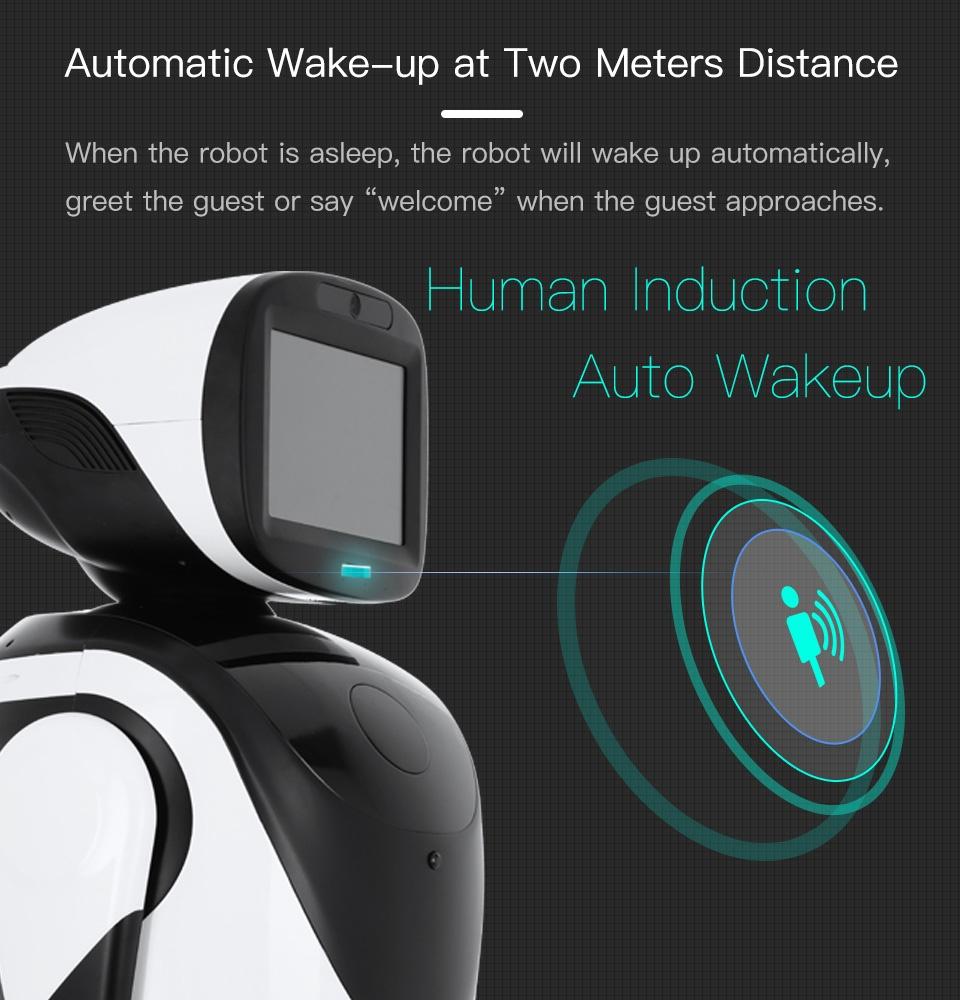 Professional Telepresence Robot Humanoid Design SIFROBOT-4.2 automatic wakeup