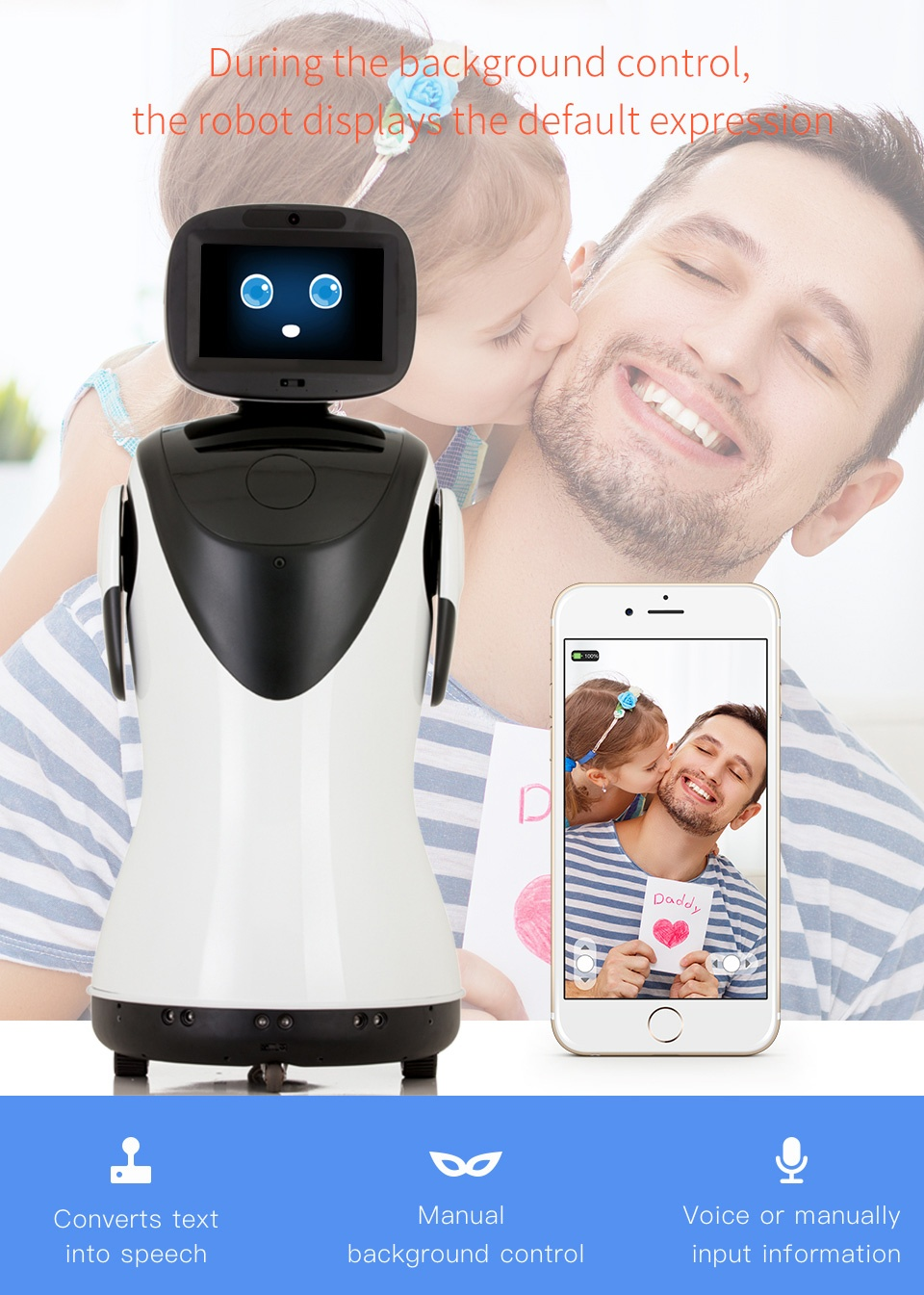 Professional Telepresence Robot Humanoid Design SIFROBOT-4.2 emotional robot