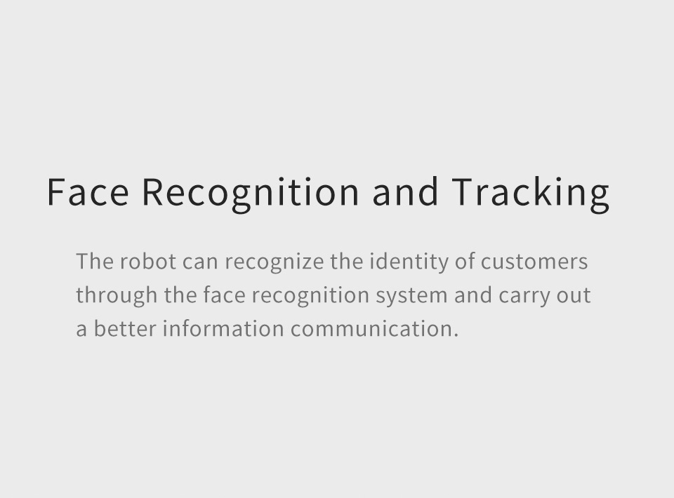 Professional Telepresence Robot Humanoid Design SIFROBOT-4.2 face recognition