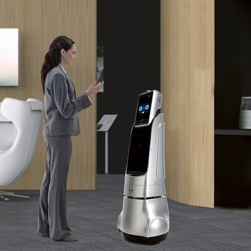 Telepresence Robot SIFROBOT-4.3 Autonomous Navigation and Intelligent Voice Chat IN ACTION