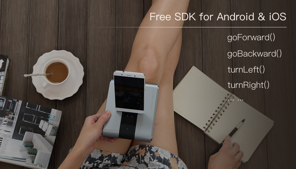 SIFROBOT-4.4 Tiny Telepresence Robot for Smartphones; Video Chat, Remote Control, Phone Charging and Crawl Motion free SDK