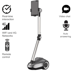 """Telepresence Robot SIFROBOT-4.0 with a Stretchable Fixture Supports 8 and 10"""" Tablet main pic"""