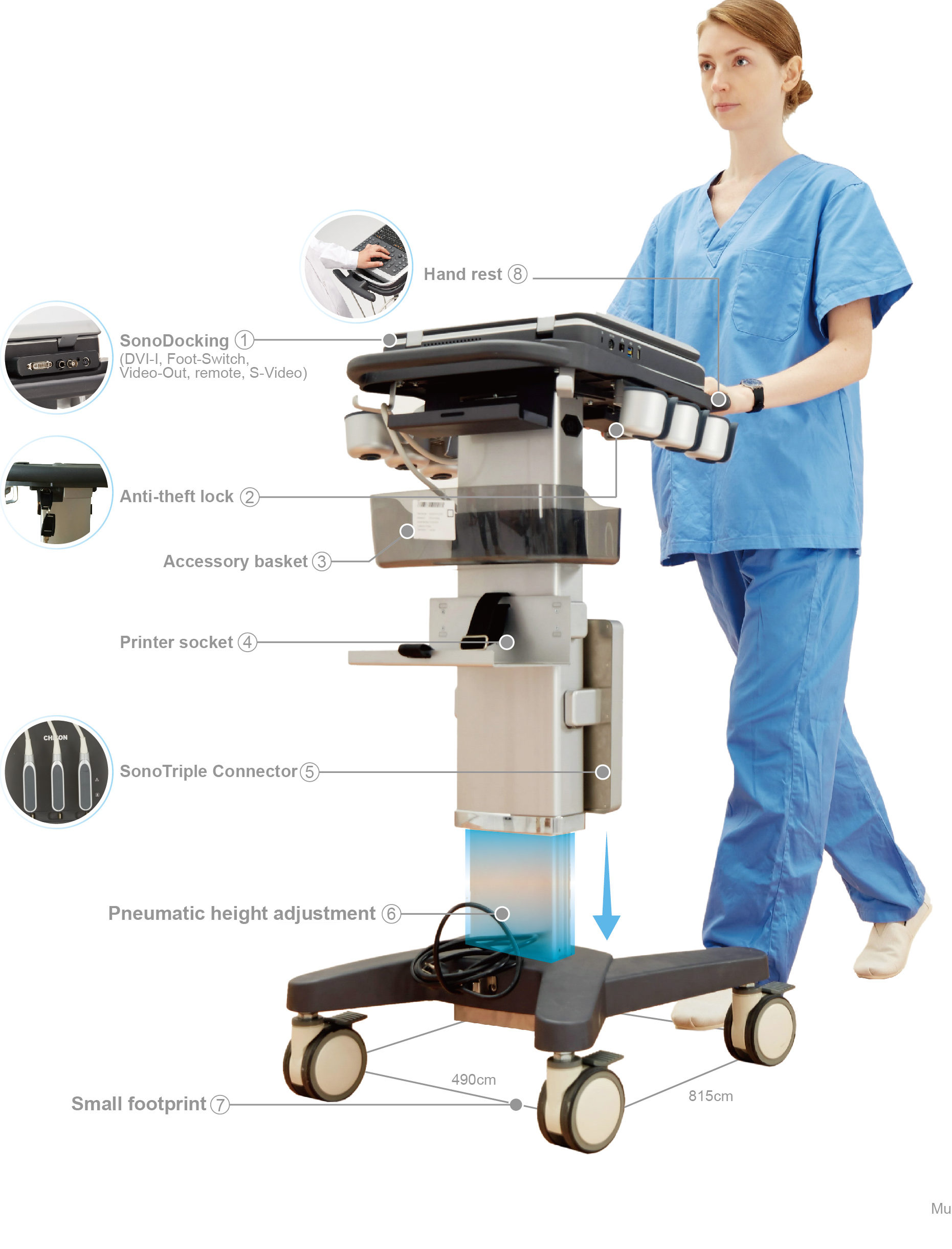 Color Doppler Laptop Multi-Head Ultrasound Scanner SIFULTRAS-6.6  Features