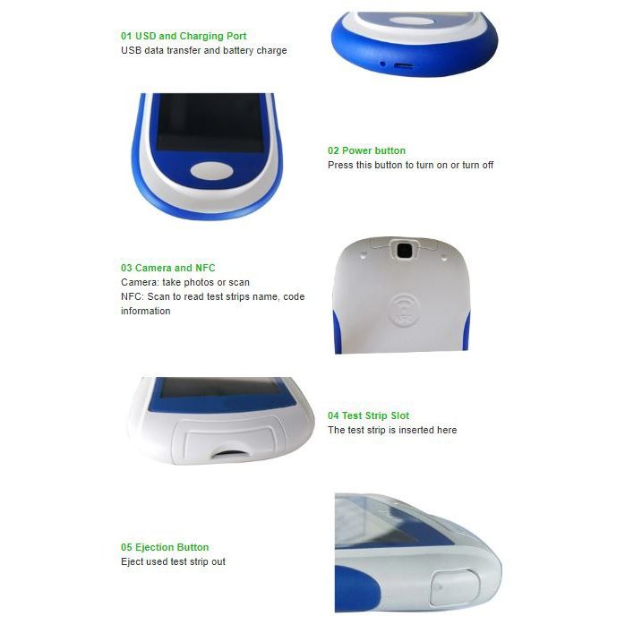 9 in 1 Glucose Meter Multi-Monitoring System SIFGLUCO-3.2 buttons