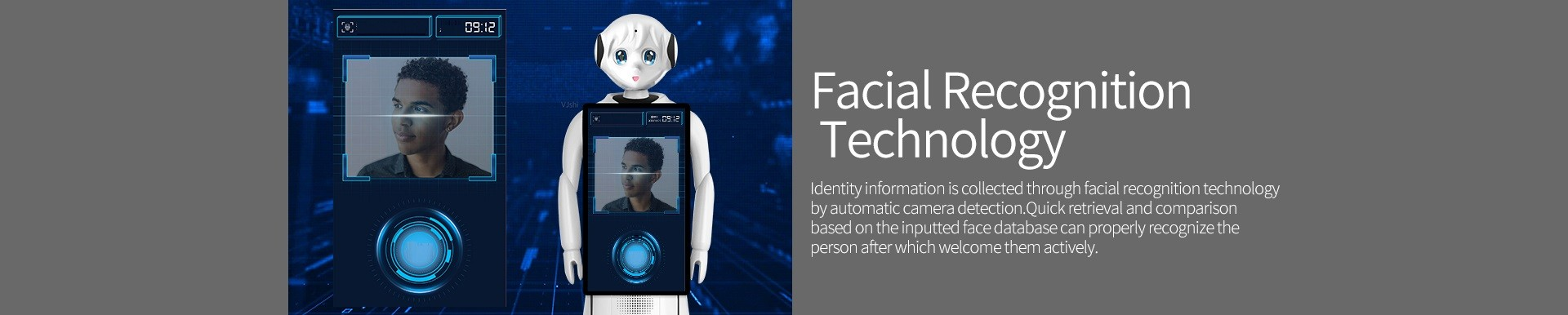 Intelligent Humanoid Reception Telepresence Robot SIFROBOT-5.0  Facial recognition technology feature Telepresence Robot