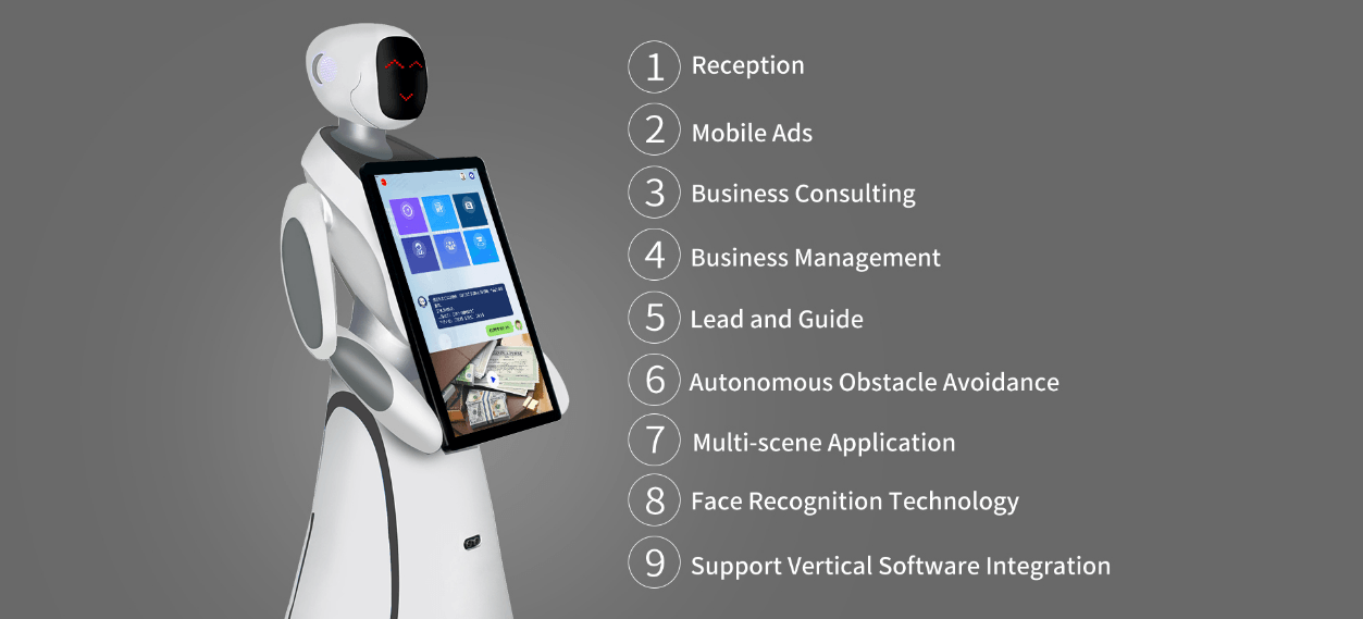 Humanoid Intelligent Commercial Service Robot SIFROBOT-5.3 features
