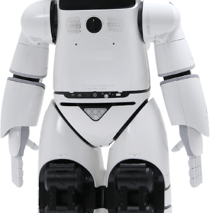 AI Humanoid Commercial Service Robot SIFROBOT-6.0 behind