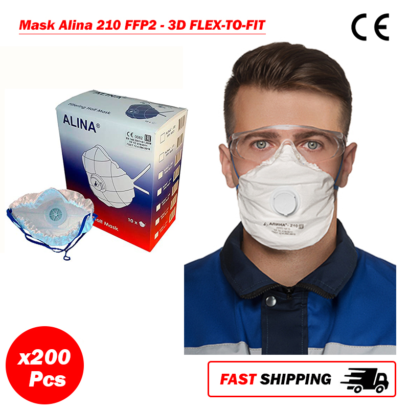 200 x SIFMASK-2.3: DisposableRespirator with Exhalation Valve