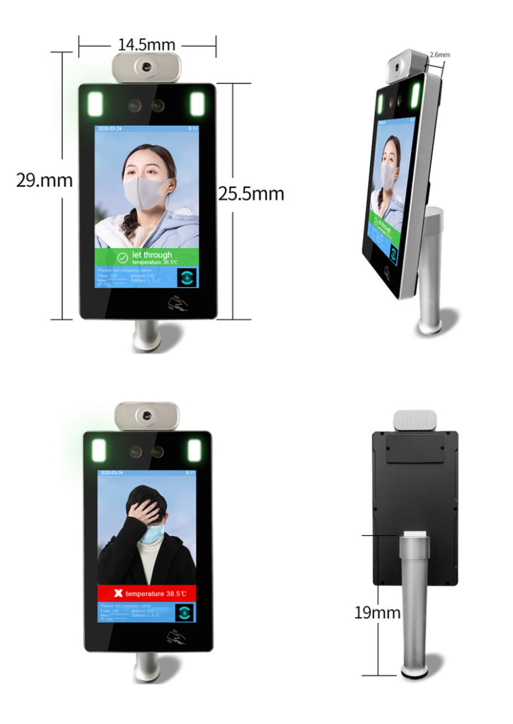 Hand Sanitizer Face Recognition Infrared Non-Contact Thermometer - SIFROBOT-7.71 size
