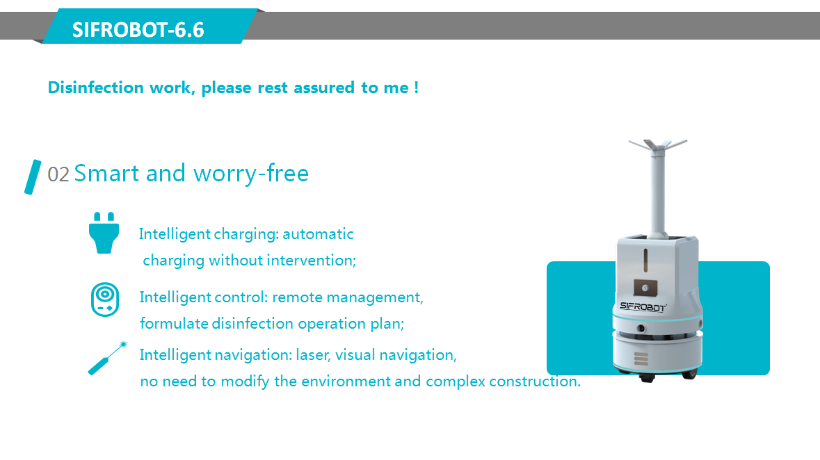 SIFROBOT-6.6-Intelligent Mobile Disinfection Robot