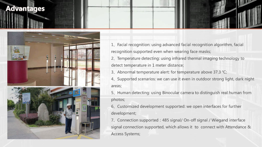 Temperature Measurement and Hand Sanitizer Robot - SIFROBOT-7.72 Robot