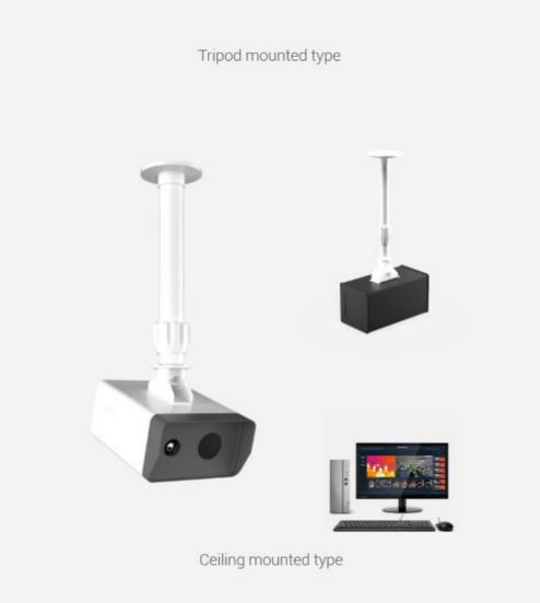 AI Body Temperature Checking Thermal Camera: SIFROBOT-7.5 tripod