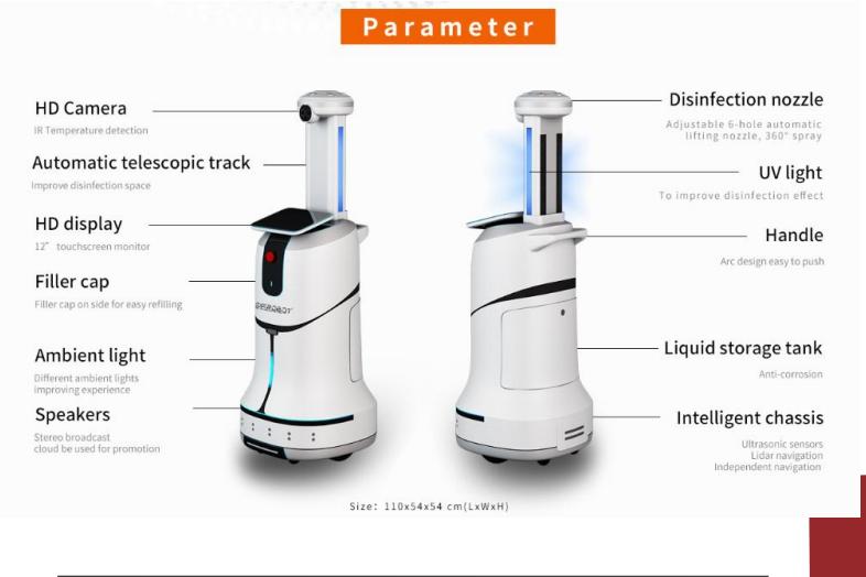 UVC Multifunctional Disinfection Robot SIFROBOT-6.51 parameter