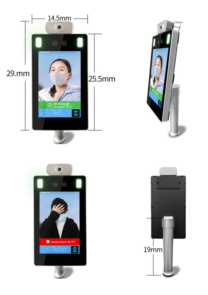 Desk Face Recognition Infrared Non-Contact Thermometer - SIFROBOT-7.33 size-