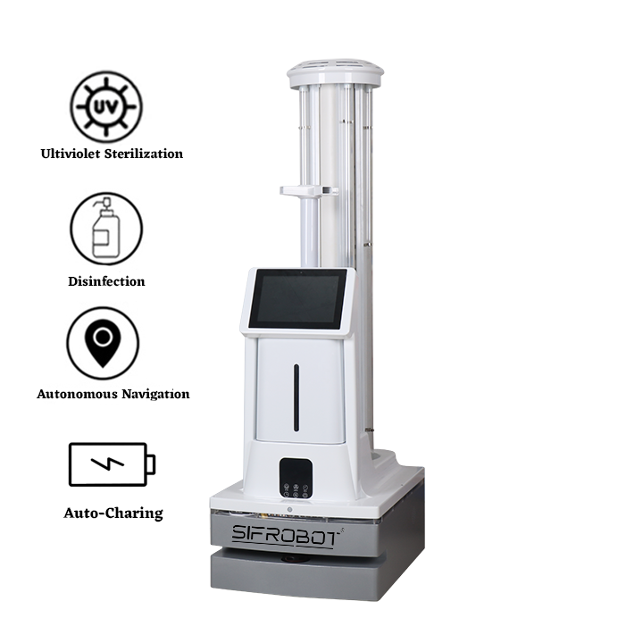 UVC and Disinfectant Sprayer Disinfection Robot: SIFROBOT-6.54
