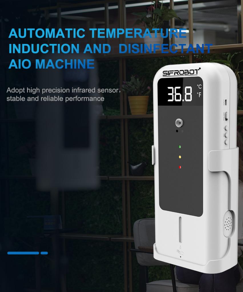 Temperature Sensor with Automatic Disinfectant Dispenser