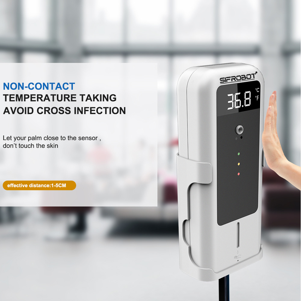 Non-contact Temperature Detector with Automatic Disinfectant Dispenser