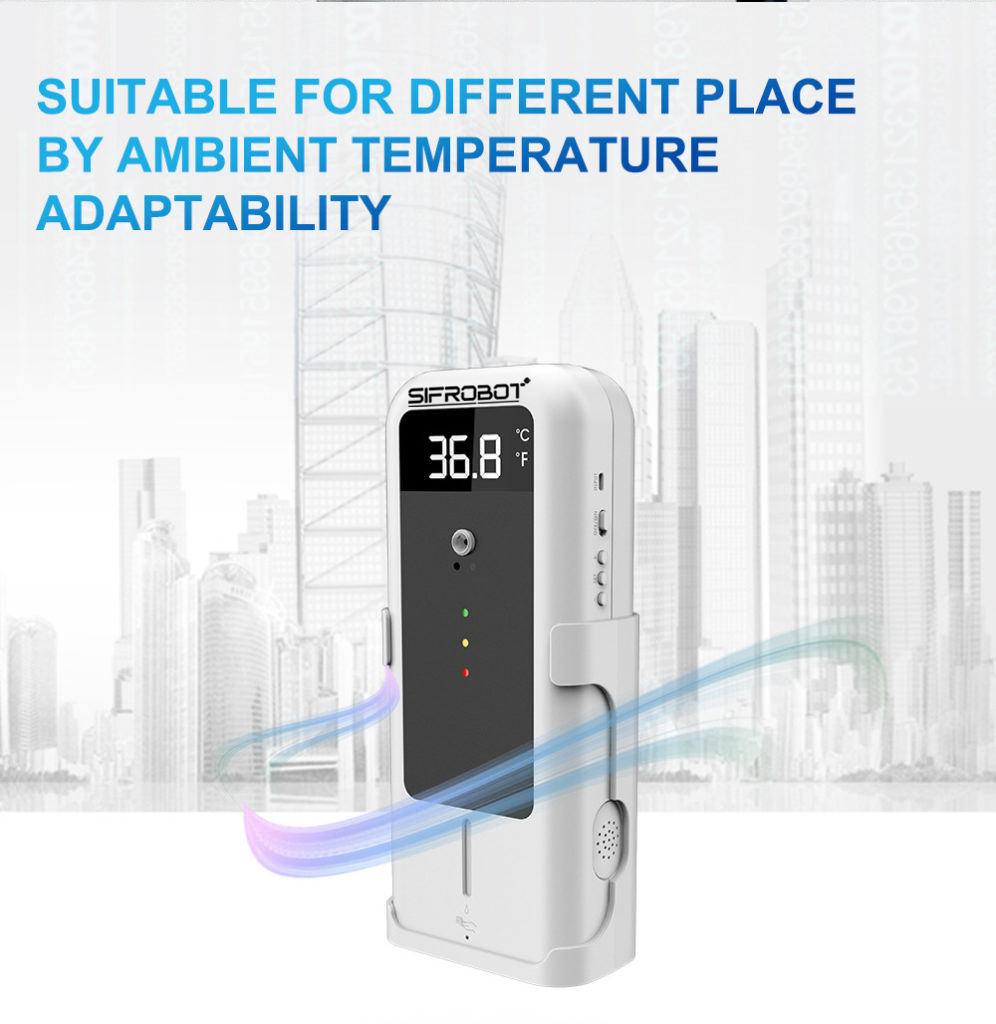 Adaptable Temperature Detector with Automatic Disinfectant Dispenser: SIFCLEANTEMP-1.4