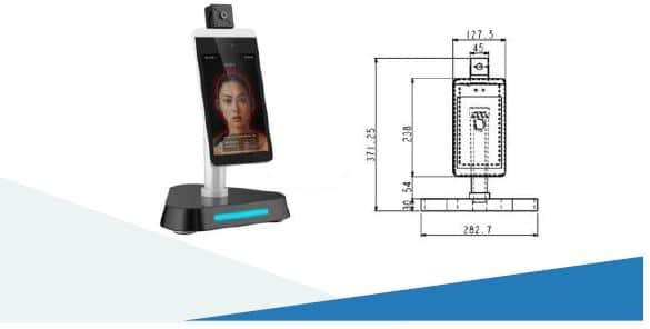 Desk Type Temperature Checker Robot: SIFROBOT-7.91 size