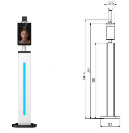 Stand Type Temperature Detector Robot: SIFROBOT-7.24