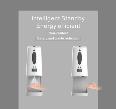 Stand Type Hand Sanitizer & Temperature Checker SIFCLEANTEMP-1.2 non-contact