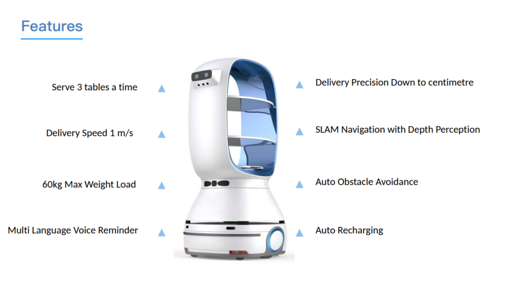 Autonomous Delivery Robot: SIFROBOT-6.21 features