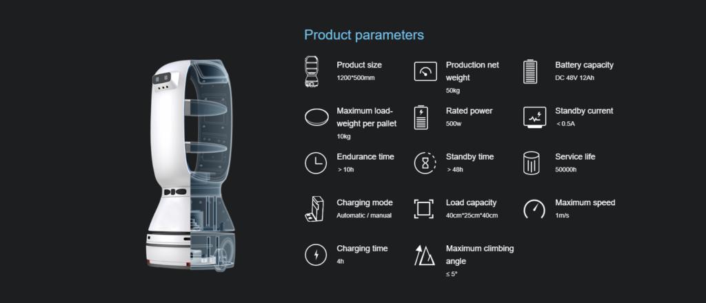 Autonomous Delivery Robot: SIFROBOT-6.21 parameters