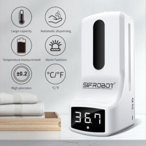 Wall-mounted Non-contact Thermometer and Hand Sanitizer Dispenser: SIFCLEANTEMP-1.0