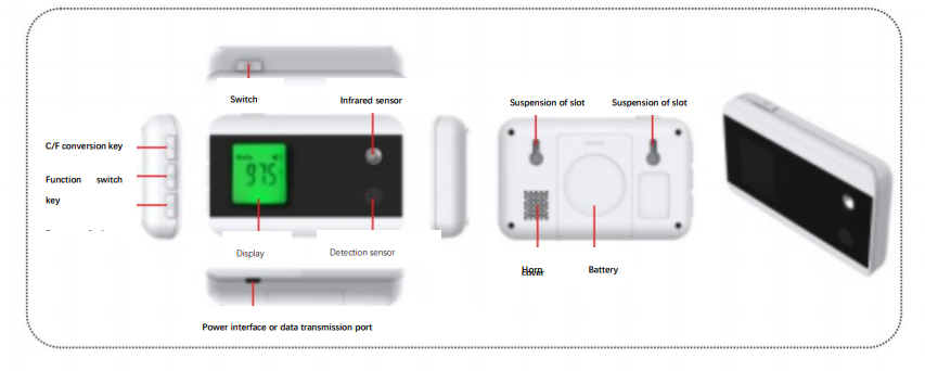 Bluetooth Doorbell Non-Contact Thermometer: SIFTHERMO-3.0B
