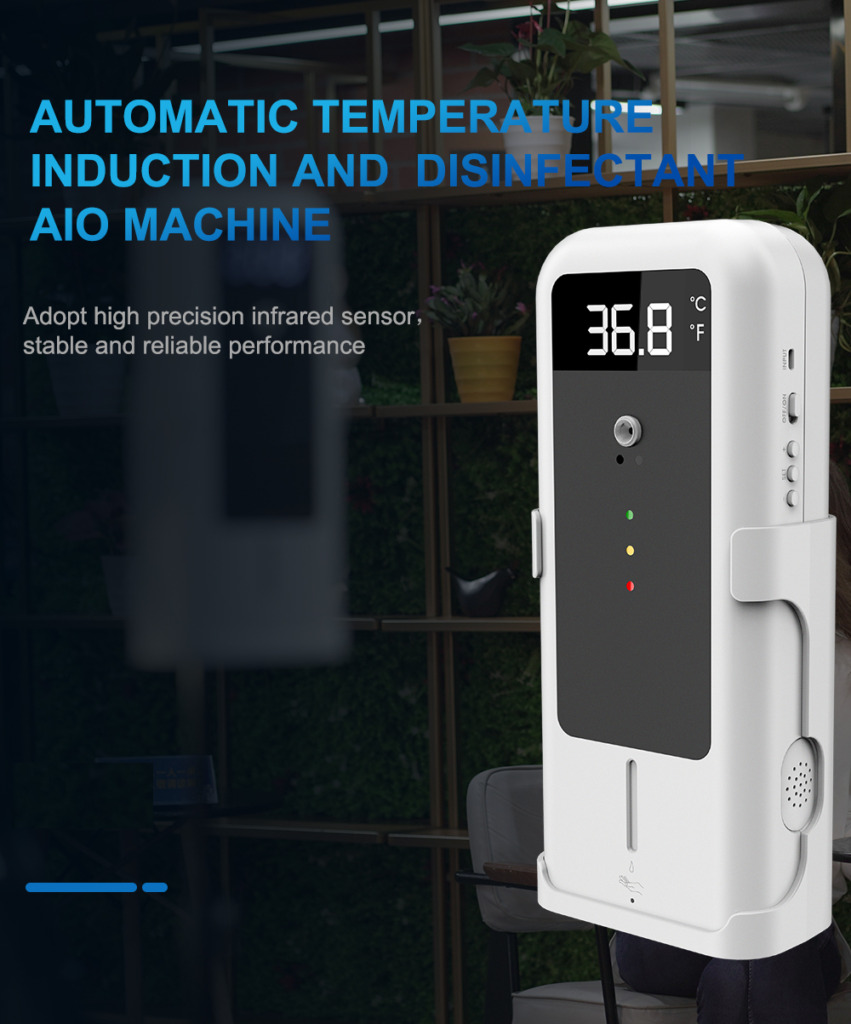 SAFESCHOOLPACK-1.6: Temperature Detector with Automatic Disinfectant Dispenser + UVC and Disinfectant Sprayer SIFCLEANTEMP-1.4