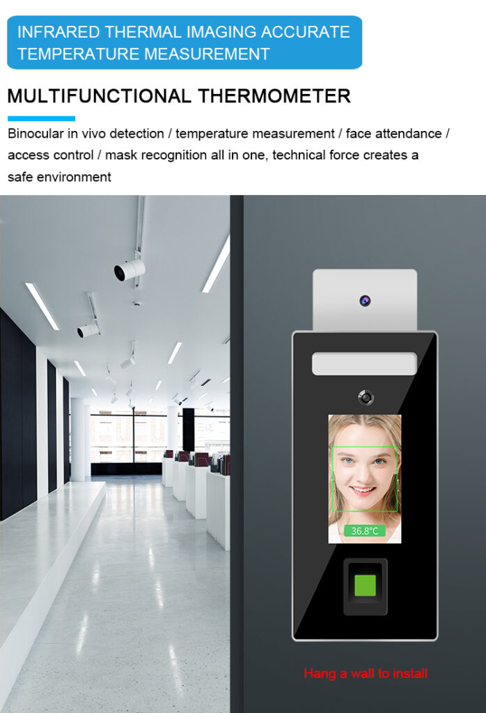 Face recognition and Fingerprint Temperature checker Stand type: SIFROBOT-7.82 multi-function