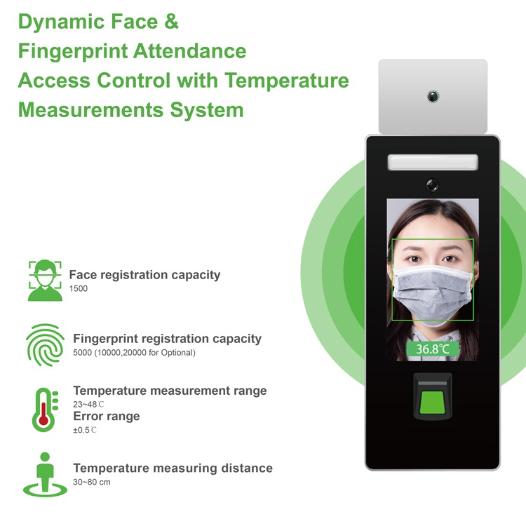 Face recognition and Fingerprint Temperature checker Stand type: SIFROBOT-7.82 main features