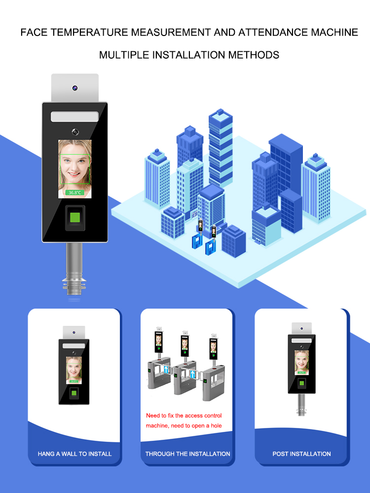 Face recognition and Fingerprint Temperature checker Stand type: SIFROBOT-7.82 installation methods